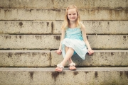 Anna on the steps in Chapel Hill